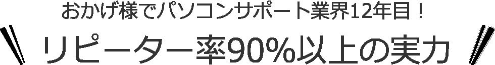 おかげ様でパソコン出張サポートSattoは業界12年目! リピーター率90%以上の実力!